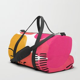 Modern Mid Century Fun Colorful Abstract Minimalist Painting Yellow Pink Bubble Candy Drops Duffle Bag