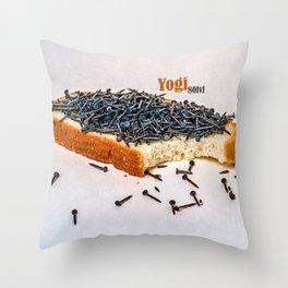 Yogi 80 level snack Throw Pillow