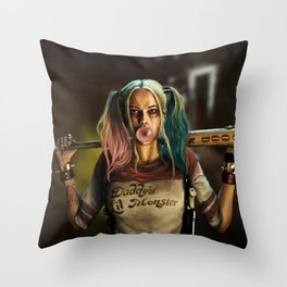 Harleen Quinzel Throw Pillow