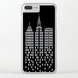 Skyscrapers Clear iPhone Case