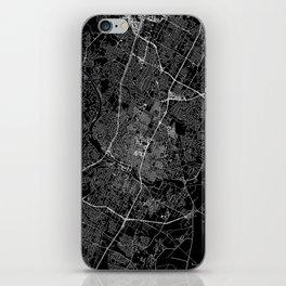 Austin Black Map iPhone Skin