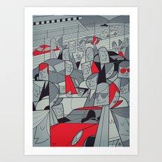 Porsche Racing Art Print