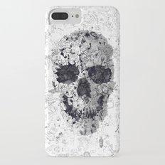 Doodle Skull BW Slim Case iPhone 7 Plus