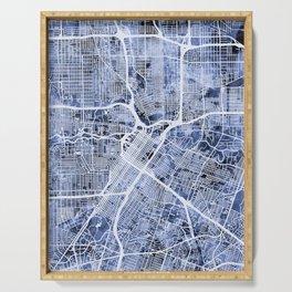 Houston Texas City Street Map Serving Tray