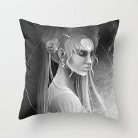 sailor moon Throw Pillows featuring Sailor Moon by Nicolas Jamonneau