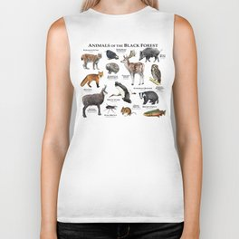 Animals of the Black Forest Biker Tank