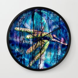 Blue Archetypal Poetry Wall Clock