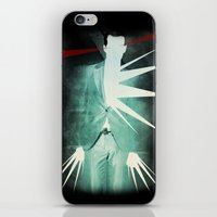 suit iPhone & iPod Skins featuring light suit by Vin Zzep
