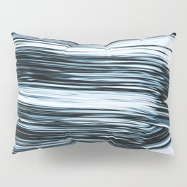 Abstract Chrome Silver Paint V Pillow Sham