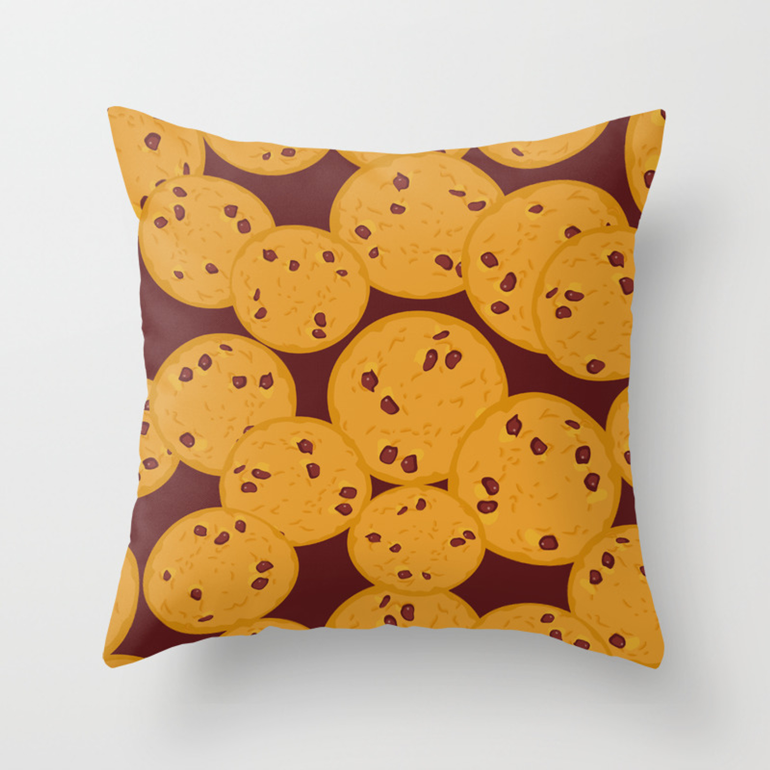 Chocolate Chip Cookie Throw Pillow By Ekaterinap Society6