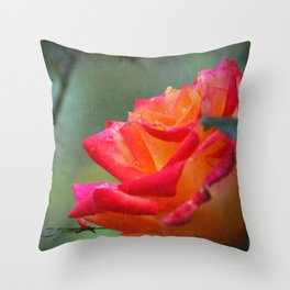 Rose Vintage Throw Pillow