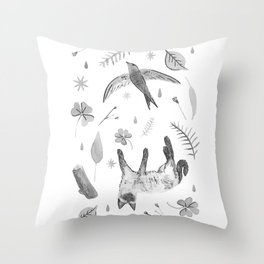 Inked Things Throw Pillow