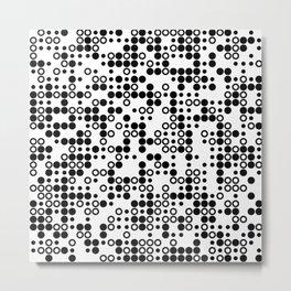Playful Dots W&B Metal Print