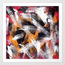 Abs orange black and white Art Print