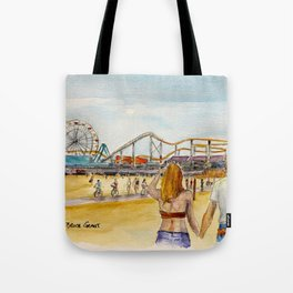 Santa Monica Pier Ferriswheel Tote Bag