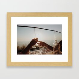 Clink Clink! Framed Art Print