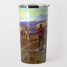 """Caught With the Goods"" by Charles M Russell Travel Mug"