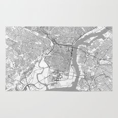 Philadelphia Map Line Rug