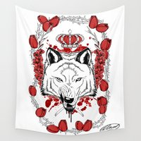 aries Wall Tapestries featuring Aries by Alexiel