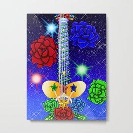 Fusion Keyblade Guitar #91 - Fairy Stars & Divine Rose Metal Print