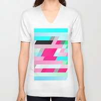 flag V-neck T-shirts featuring Flag by allan redd