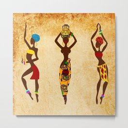 Dancing african women  Metal Print