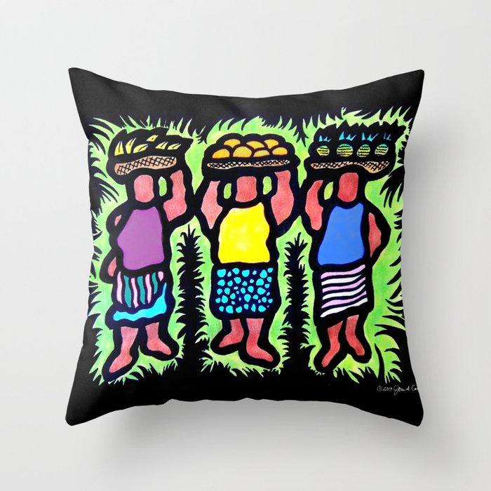 Basket Carriers Throw Pillow