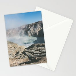 Ijen crater, Indonesia Stationery Cards