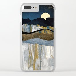 Painted Mountains Clear iPhone Case