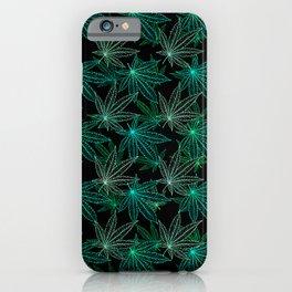 Cannabis Leaf (Black Glow) - Frost iPhone Case