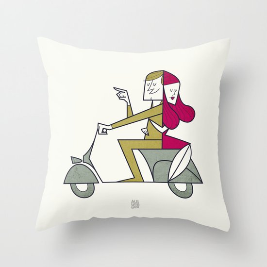 Lovers hug Throw Pillow