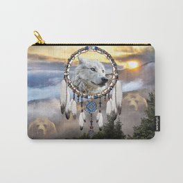 Wolf, Bear and Dream Catcher Carry-All Pouch