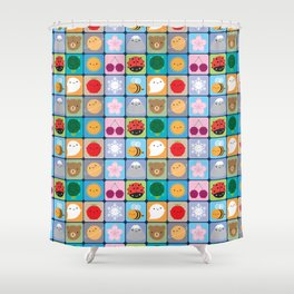 Kawaii Seasons Shower Curtain