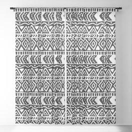 BOHO ETHNIC PATTERN 1 Sheer Curtain