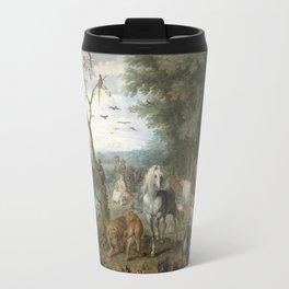 Jan Brueghel - Paradise Landscape With The Animals Entering Noahs Ark Travel Mug