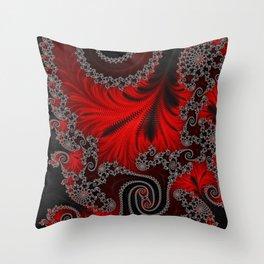 Eruption - Fractal Art Throw Pillow