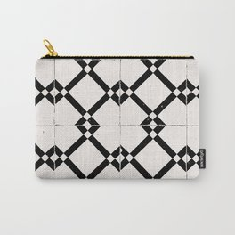 Portuguese Tile Black and White Pattern Carry-All Pouch