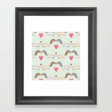 Squirrel Love Framed Art Print
