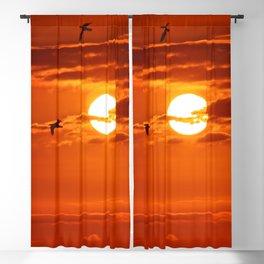 Red Sunset2 False Bay Blackout Curtain