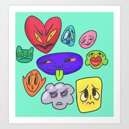 Face feels Art Print
