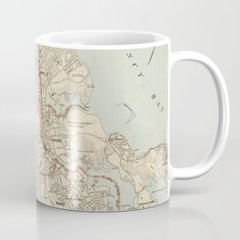 Vintage Map of Quincy MA (1907) Coffee Mug