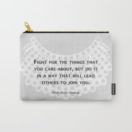 Fight, Lead - RBG (grey) Carry-All Pouch