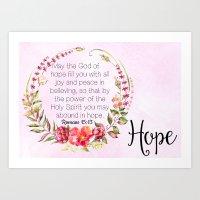 Abounding in Hope Art Print