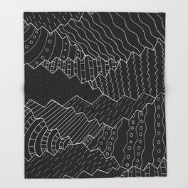 The black and white mountains Throw Blanket