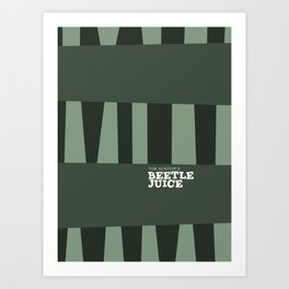 Tim Burton - Beetle juice Art Print
