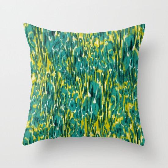 Ikat Floral Throw Pillow
