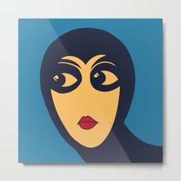 Space woman: are you looking at me? Metal Print