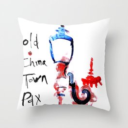 Portland Old China Town Throw Pillow