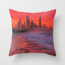 Somewhere in the future  Throw Pillow