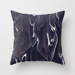 glitch art Throw Pillow